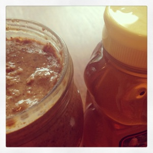 almond butter and honey